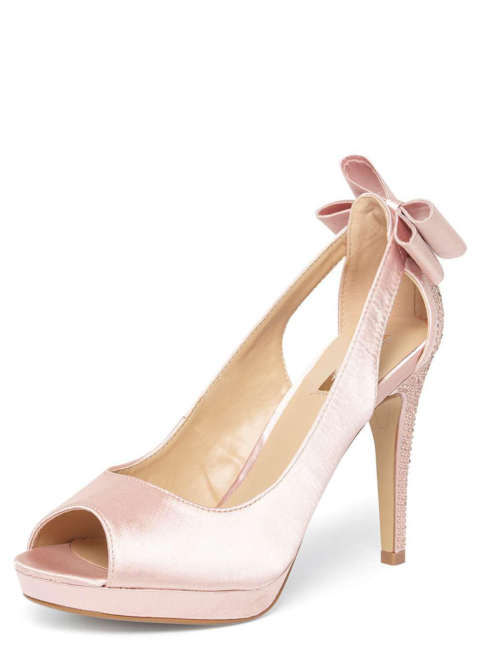 6e1beb42f9a Dorothy Perkins Pink Showcase Blush 'ghost' Bow Court Shoes