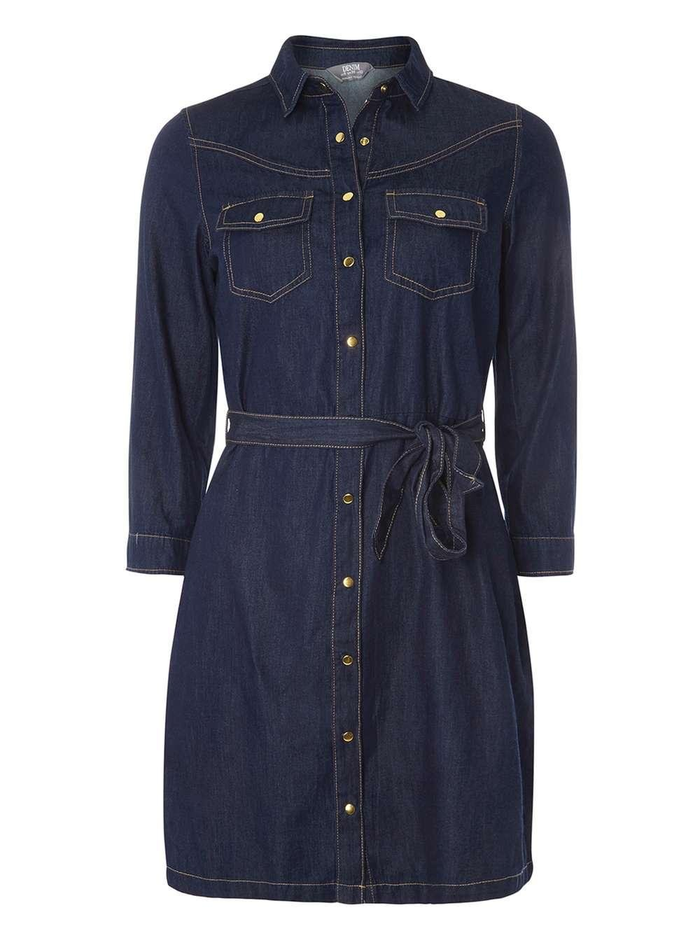 Lyst Dorothy Perkins Blue Long Sleeve Denim Shirt Dress