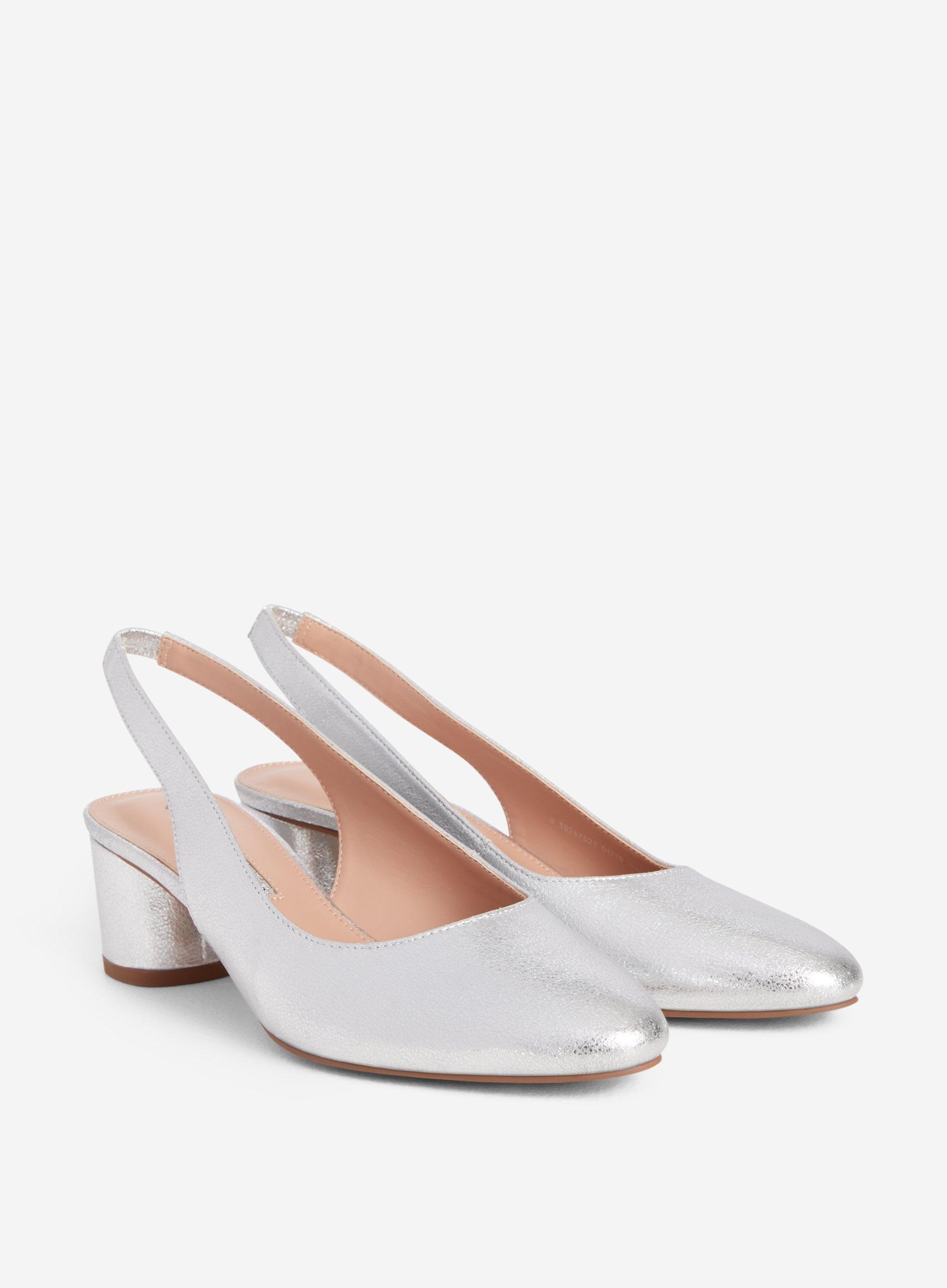 d8d37a59f3 Dorothy Perkins - Metallic Silver 'daphy' Slingback Court Shoes - Lyst.  View fullscreen