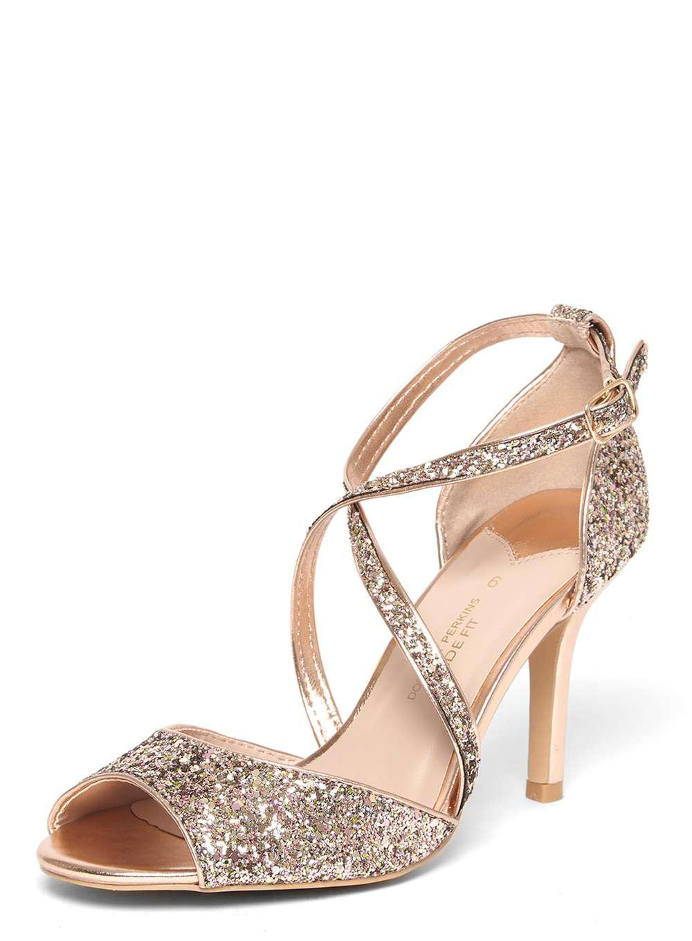 bef1a23ff42 Dorothy Perkins Rose Gold Wide Fit  blaire  Sandals in Metallic - Lyst