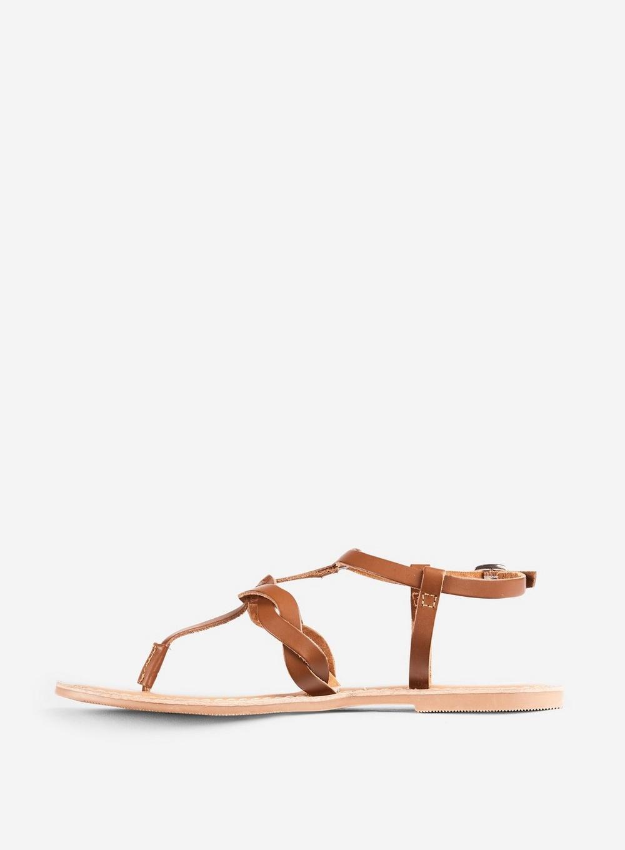 5fec6d5156c3 Lyst - Dorothy Perkins Brown Leather  jessie  Sandals in Brown