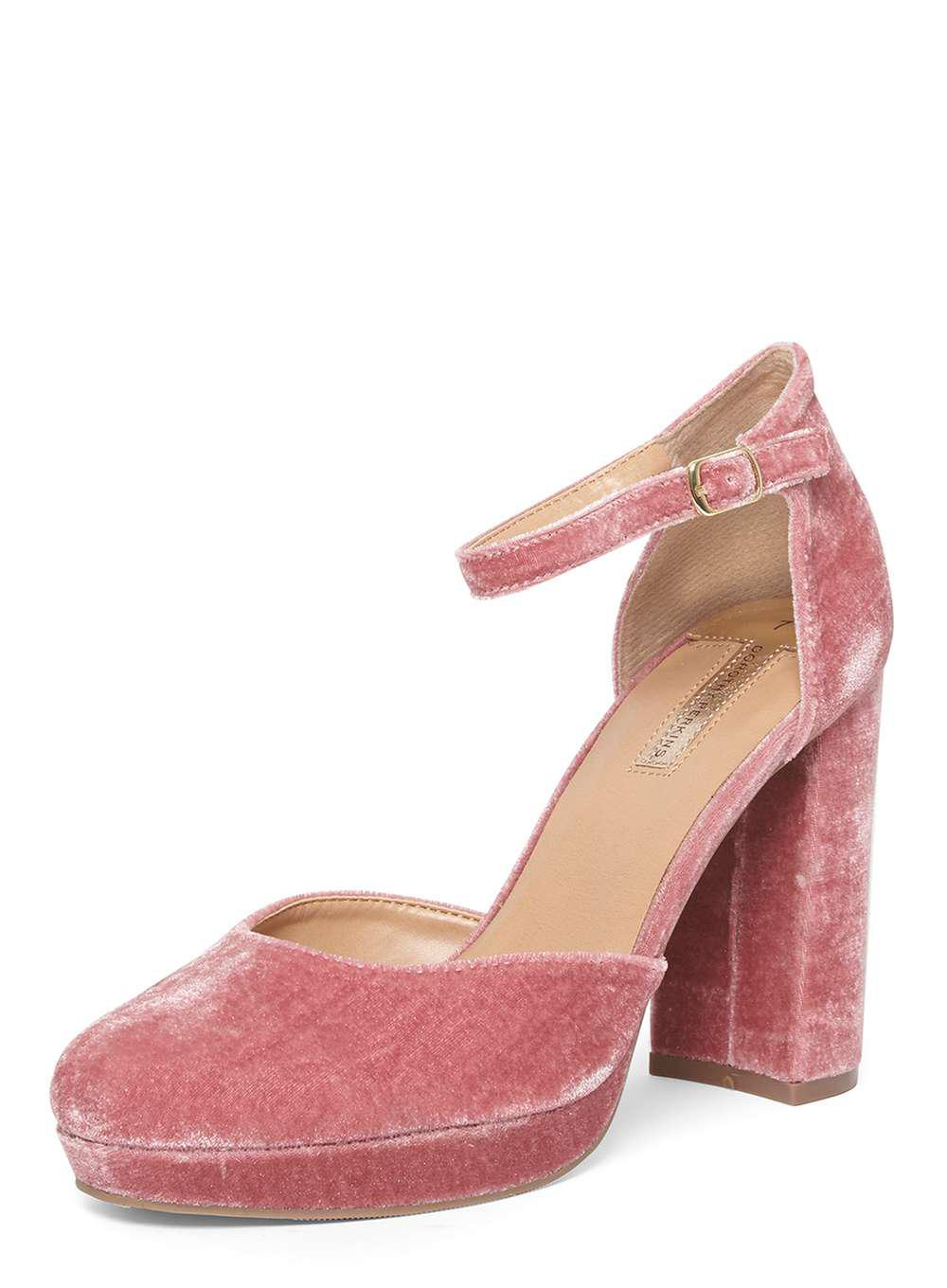 1581cb8b809 Dorothy Perkins Blush Velvet 'gabrielle' Court Shoes in Pink - Lyst
