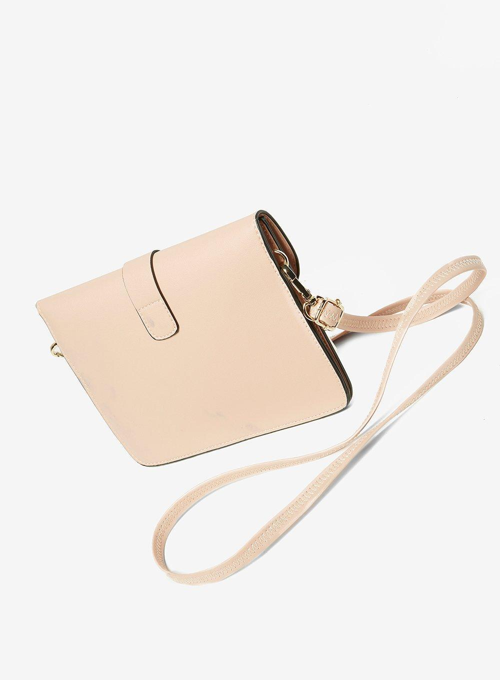 Dorothy Perkins Blush Pushlock Mini Cross Body Bag