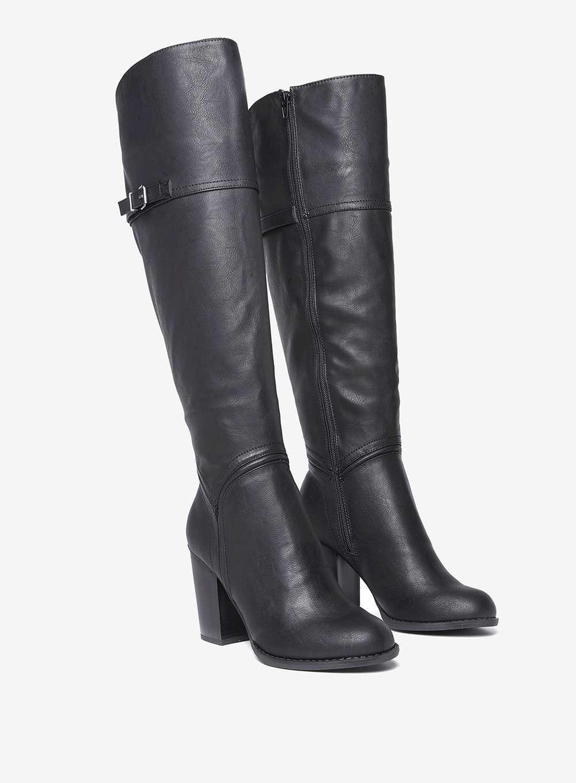 Black 'kadie' Knee High Boots - Lyst