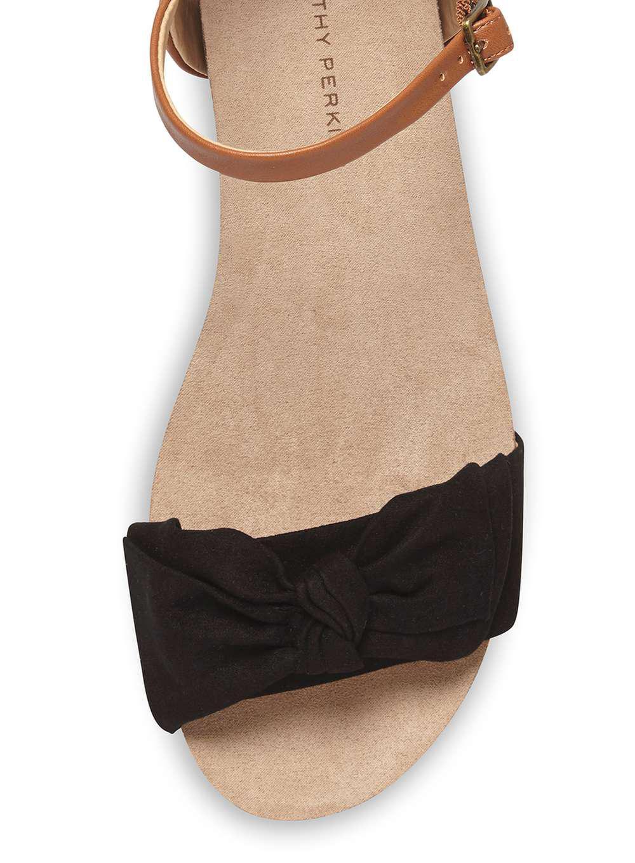 b92ceb35c3 Lyst - Dorothy Perkins Black 'resta' Footbed Wedge Sandals in Black