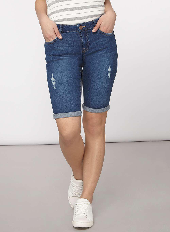 Dorothy Perkins Petite Womens White Knee Short