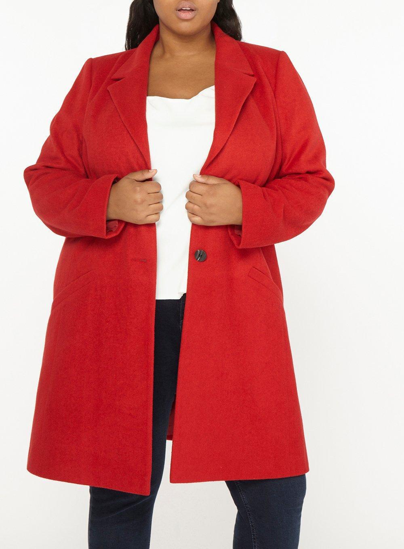 d02cbf65746 Dorothy Perkins - Dp Curve Red Duster Coat - Lyst. View fullscreen