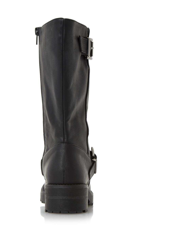 Dorothy Perkins Head Over Heels By Dune Flat Boots in Black