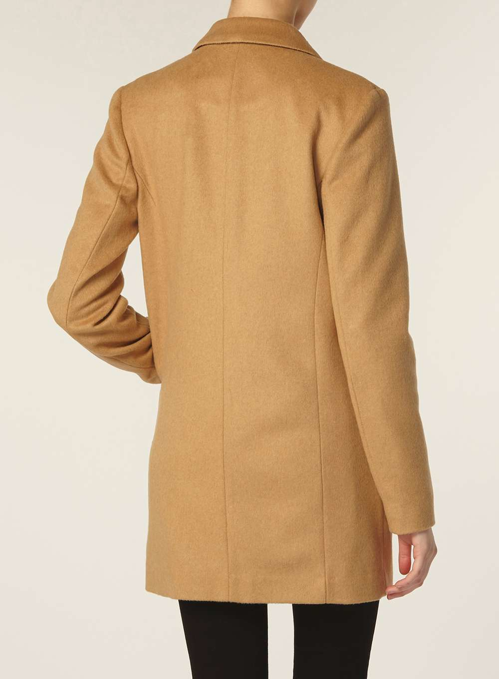 Dorothy Perkins Tall Camel Boyfriend Coat In Blue Lyst