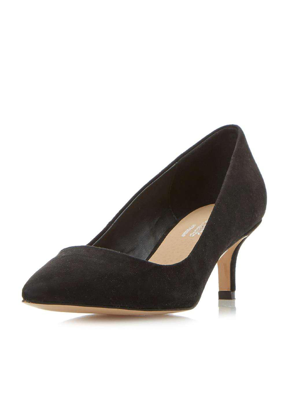 Vente Confortable Clairance Sneakernews Dorothy Perkins Head Over Heels by Dune Black 'Addore' High Heel Court Shoes DUwsgpE64p