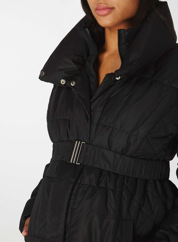 7fcf4c2fb Dorothy Perkins Mamalicious Maternity Black Padded Coat in Black - Lyst