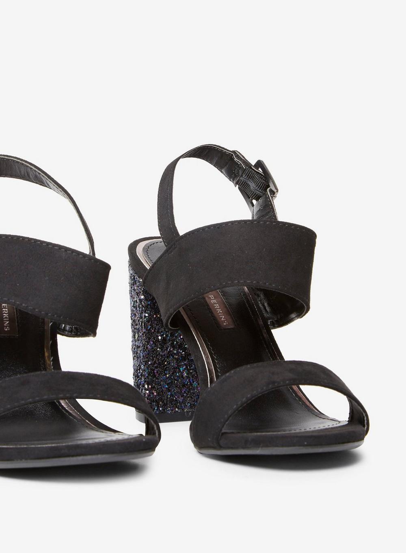 45ba89d61c Dorothy Perkins Black Strike Heeled Sandals in Black - Lyst