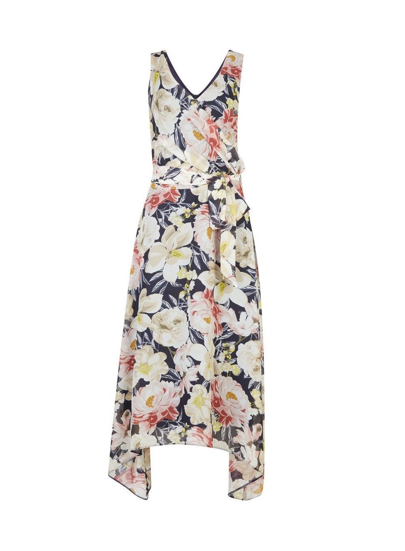 417546c4f4 Dorothy Perkins. Women s Blue Billie   Blossom Tall Navy Floral Print Skater  Dress