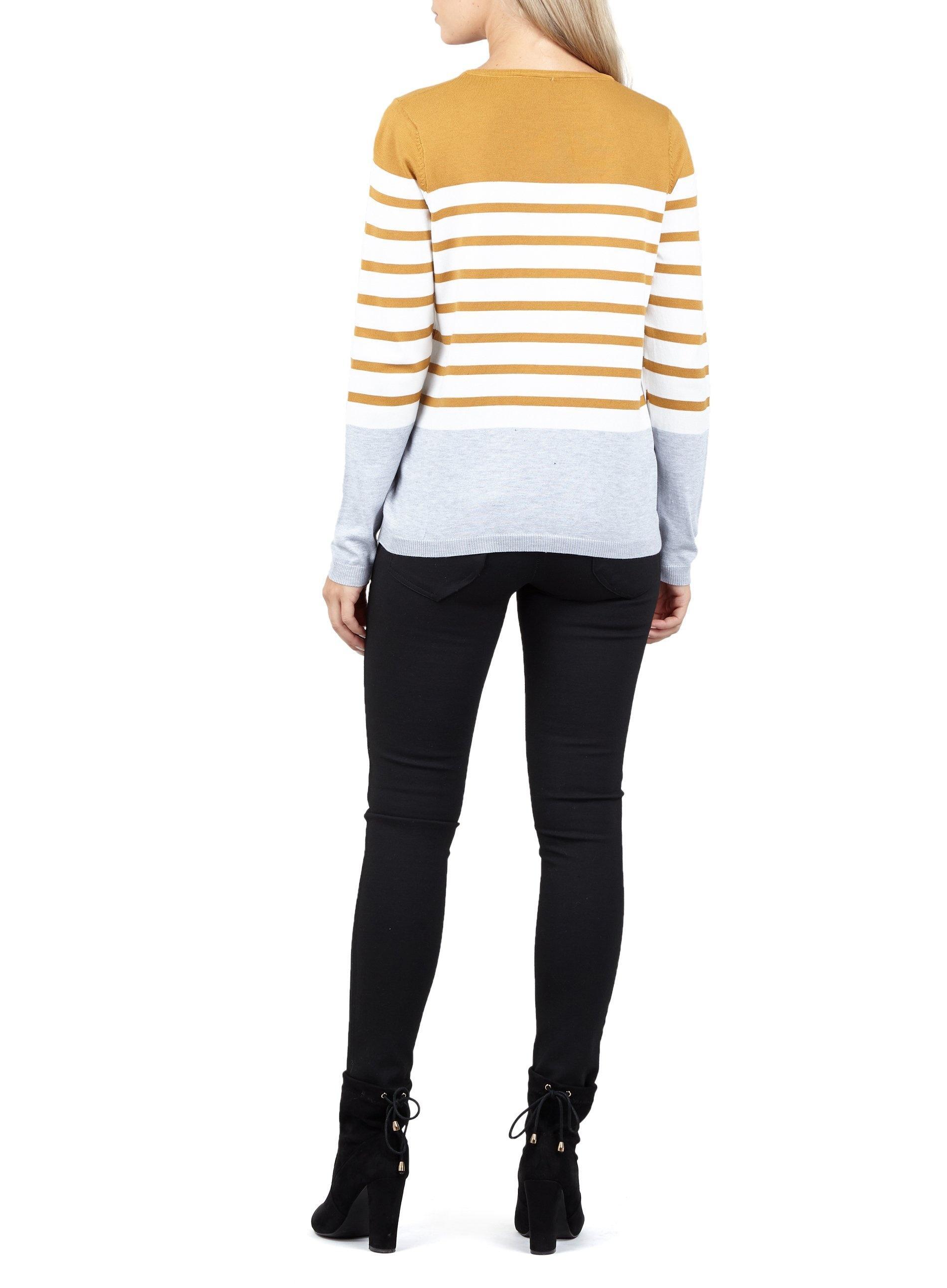 2fad4c12be1 Lyst - Dorothy Perkins Izabel London Mustard Striped Jumper