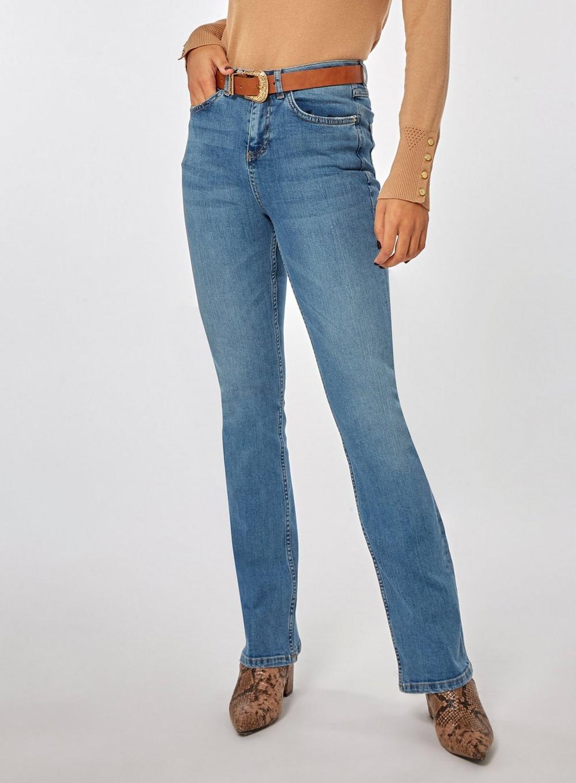 95fa2351 Dorothy Perkins Mid Wash 'kick Flare' Denim Jeans in Blue - Lyst
