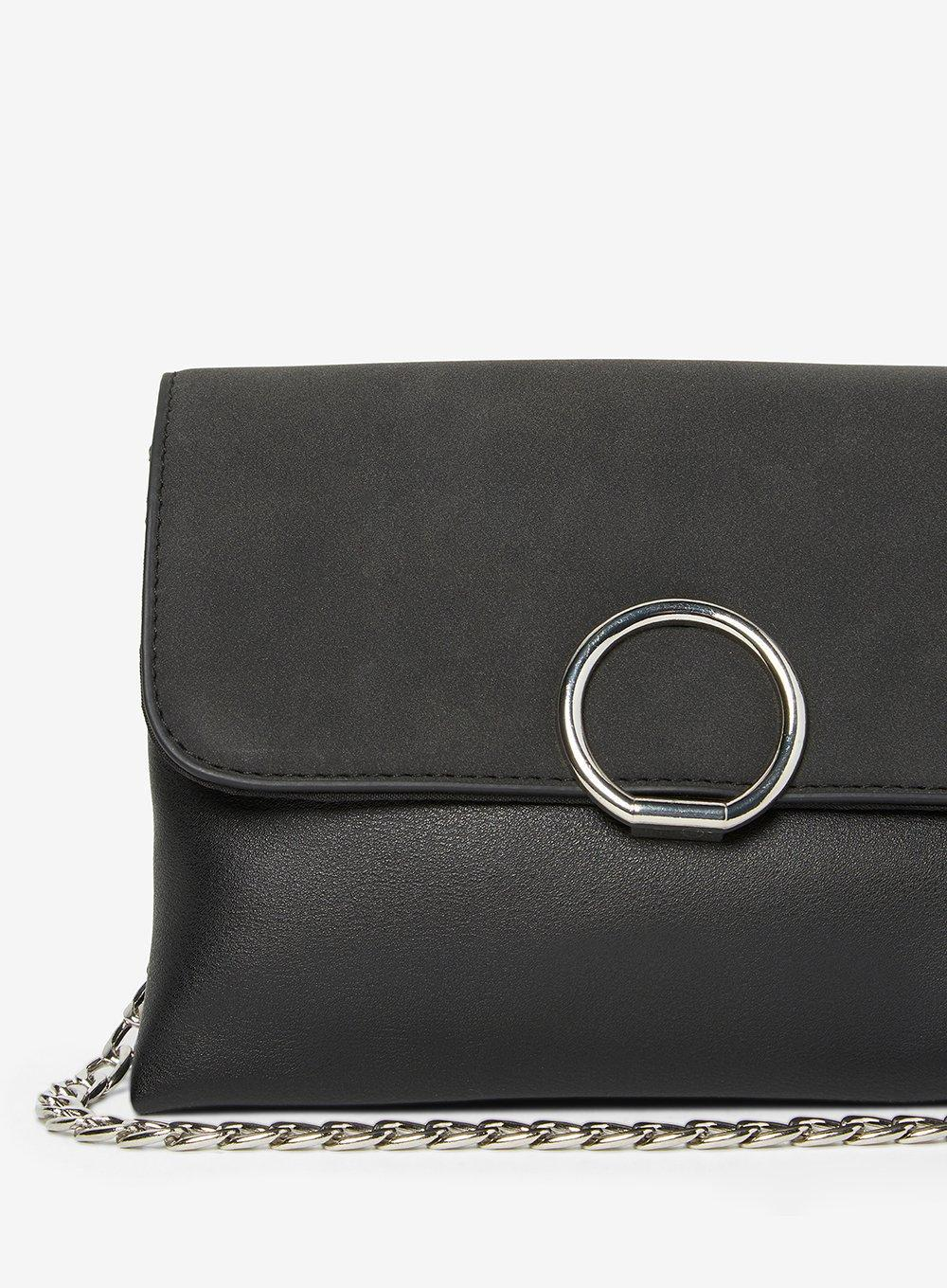 Dorothy Perkins Pieces Black 'faedra' Cross Body Bag