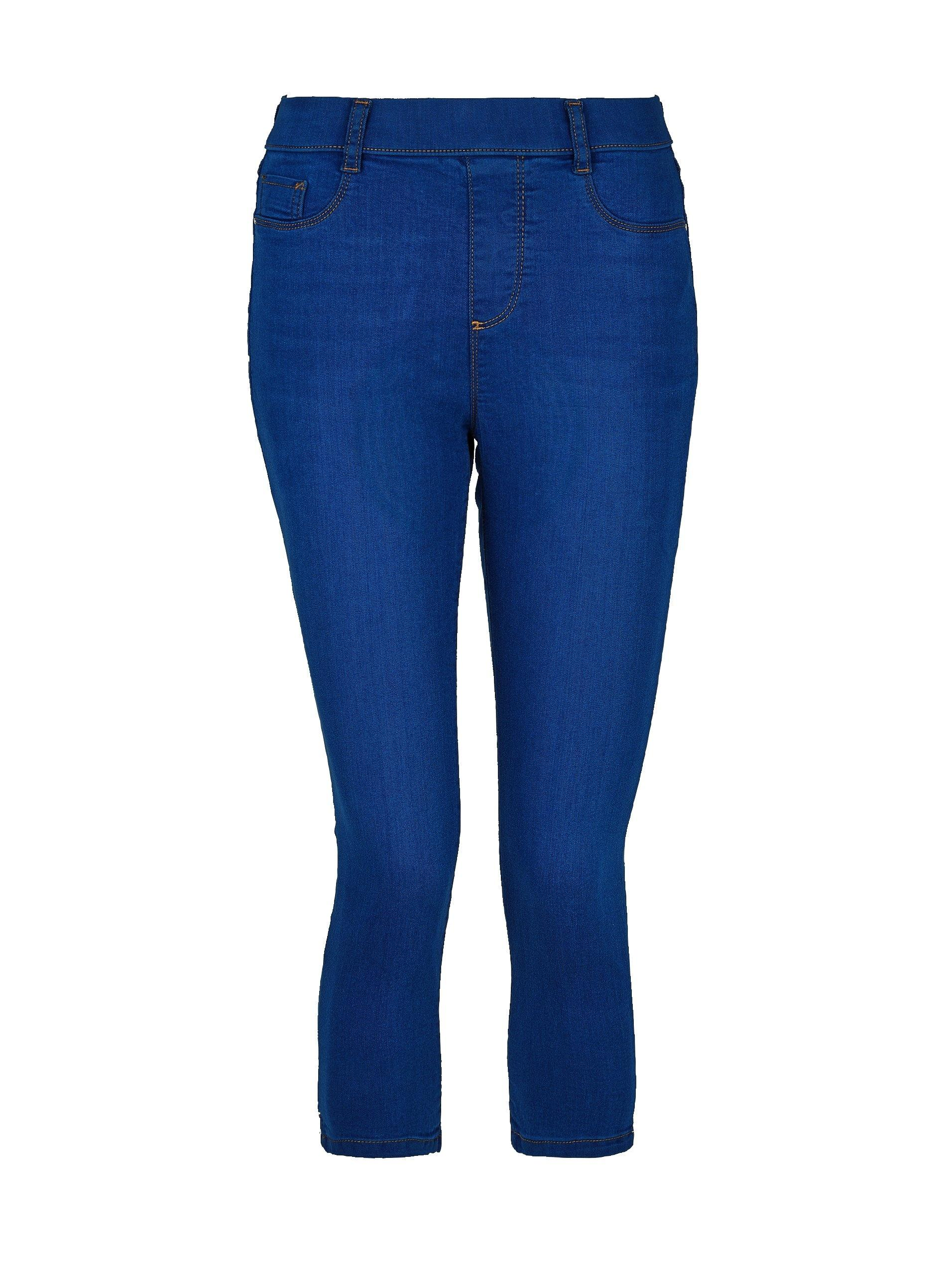 f4aa0d10a35 Lyst - Dorothy Perkins Bright Blue Eden Super Soft Cropped Jeggings ...