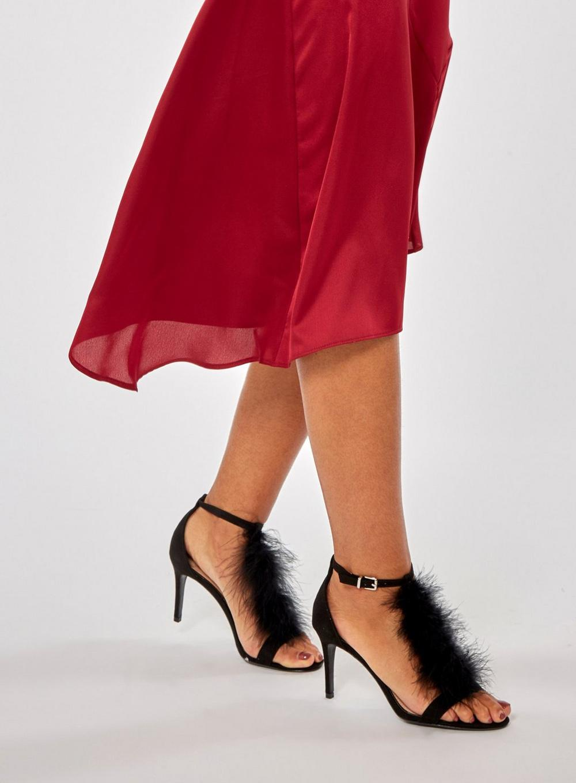 9cf0191db1f290 Lyst - Dorothy Perkins Black  beau  Heeled Sandals in Black