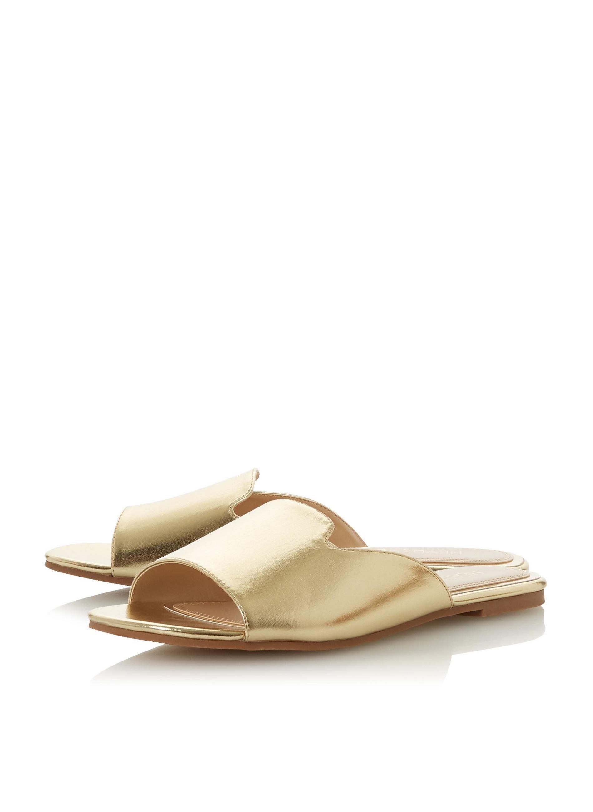 2cebfb4cd Dune By Dune Lynn Ladies Flat Sandals in Metallic - Lyst