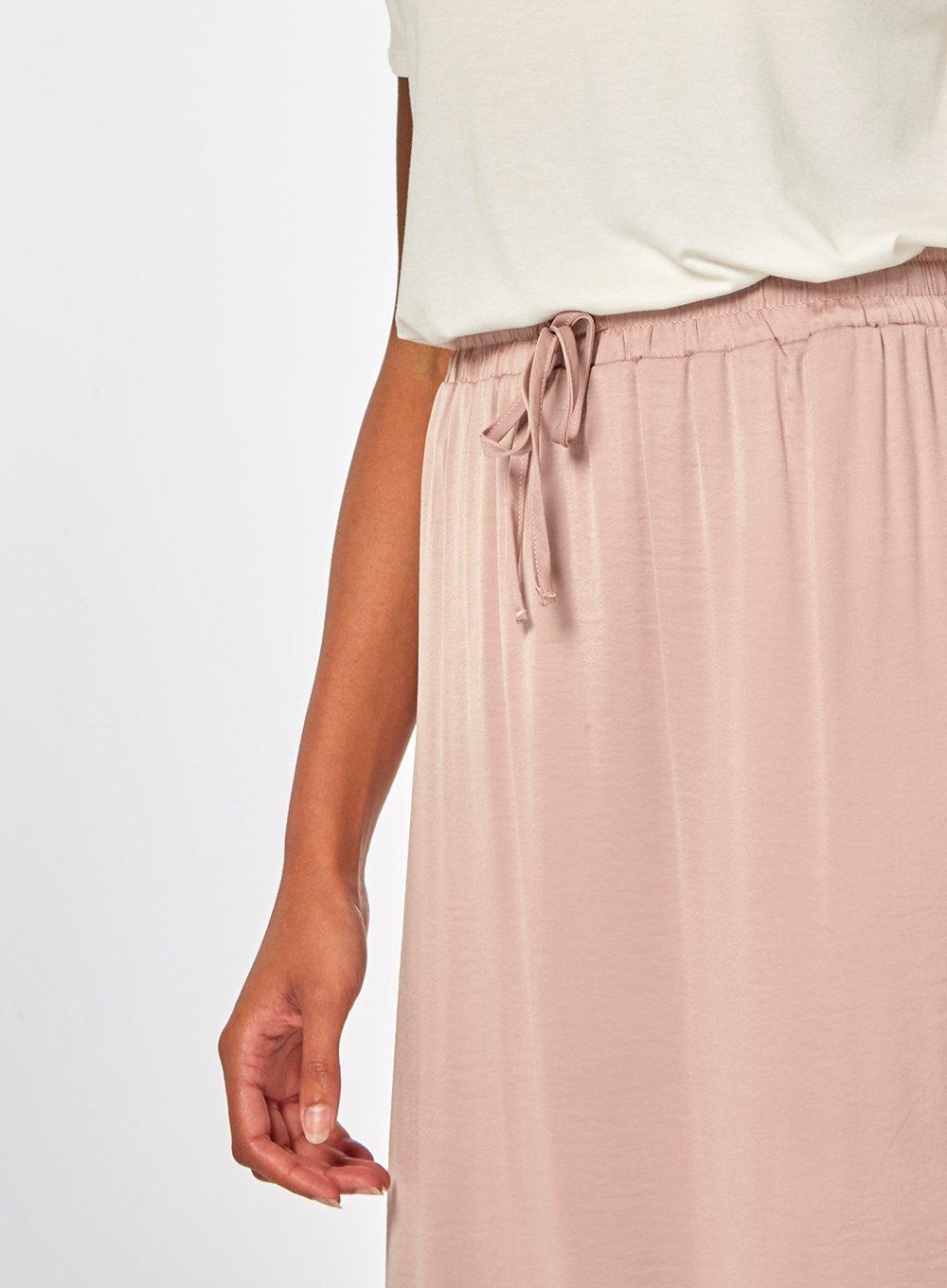 a3c18c9c683 Lyst - Dorothy Perkins Vila Dusty Pink Maxi Skirt in Pink
