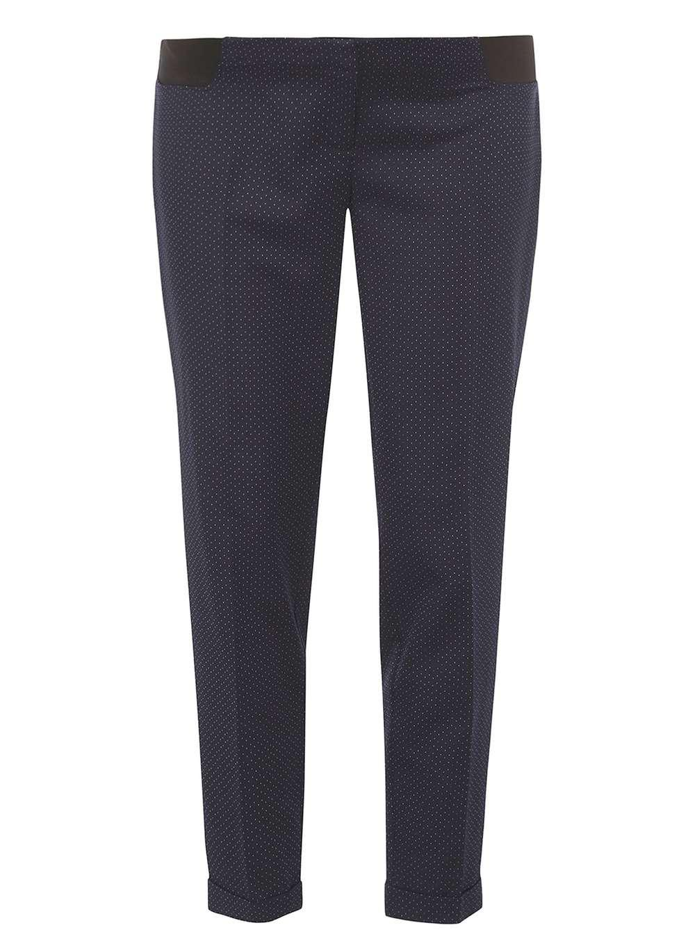 9749fed75f40d Lyst - Dorothy Perkins Maternity Navy Blue Spotted Straight Leg ...