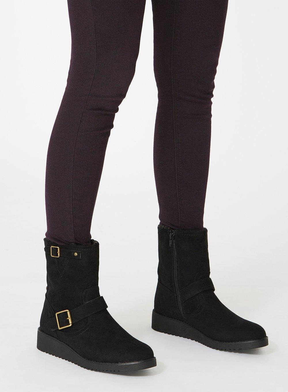 Dorothy Perkins Black 'madison' Biker Boots