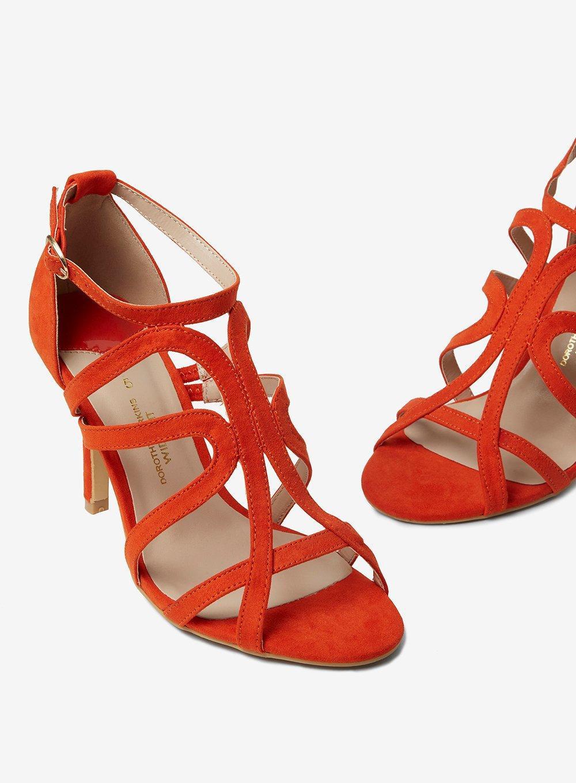 539a903143e Lyst - Dorothy Perkins Wide Fit Orange  baxter  Sandals in Orange