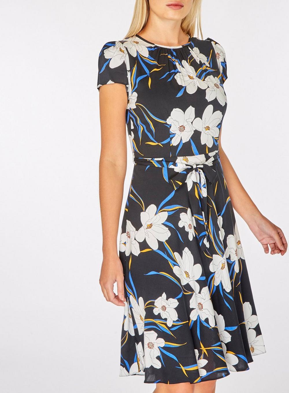 108e7baf20 Dorothy Perkins - Billie   Blossom Tall Black Floral Skater Dress - Lyst.  View fullscreen
