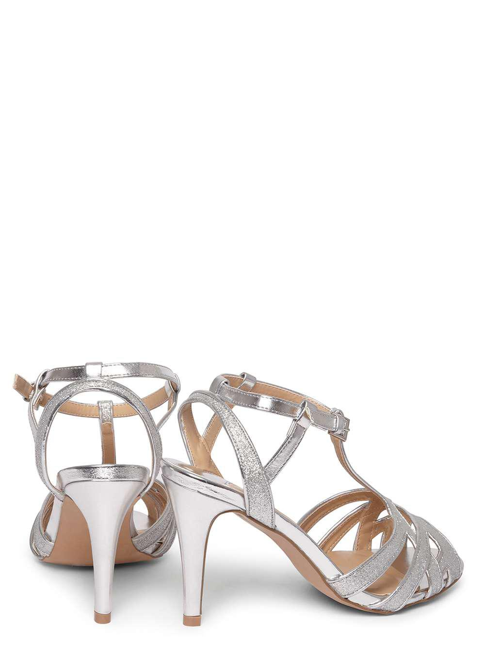 40a87203c5e0 Lyst - Dorothy Perkins Wide Fit Silver  starstruck  Sandals in Metallic