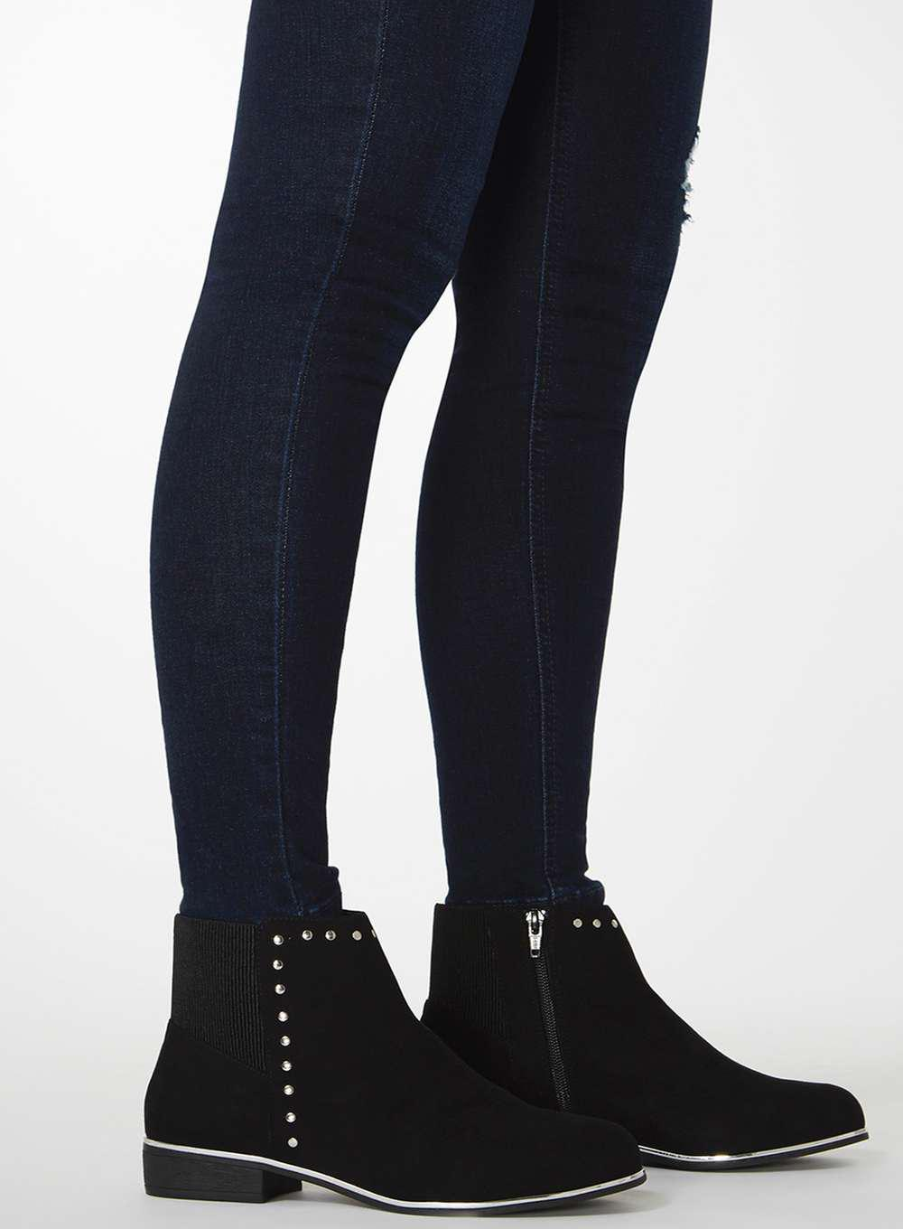 Dorothy Perkins Wide Fit Black 'mercie' Ankle Boots