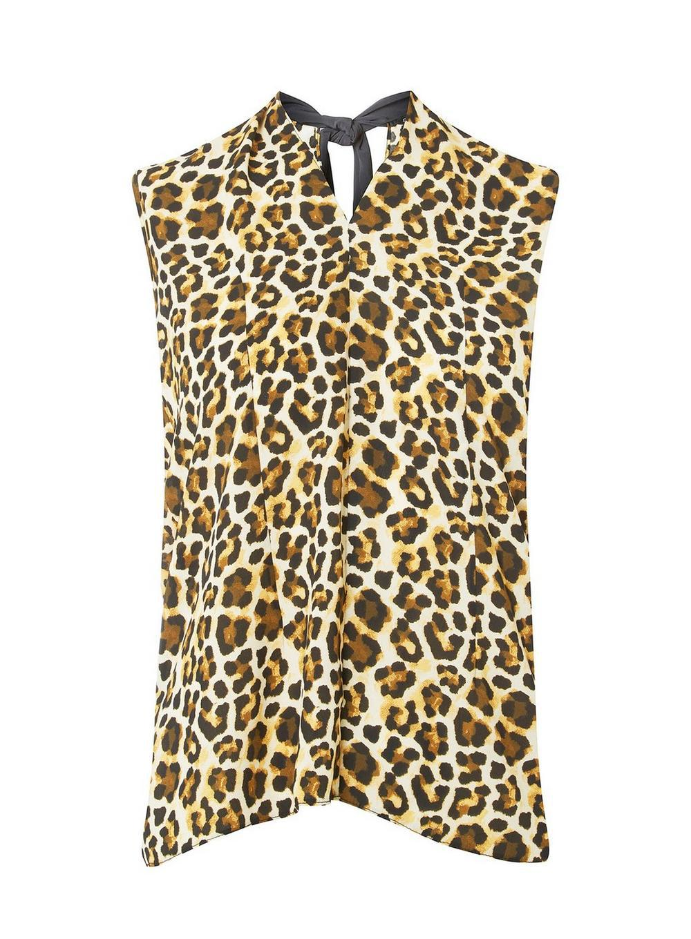 0524b2ed53d Dorothy Perkins. Women's Animal Print Tie Back Top