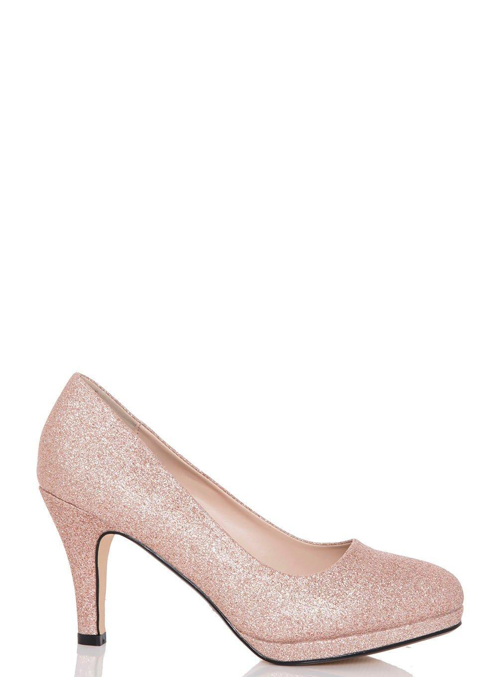 ebc2e0fa6bb Dorothy Perkins Quiz Rose Gold  rosie  Mid Heel Court Shoes in ...