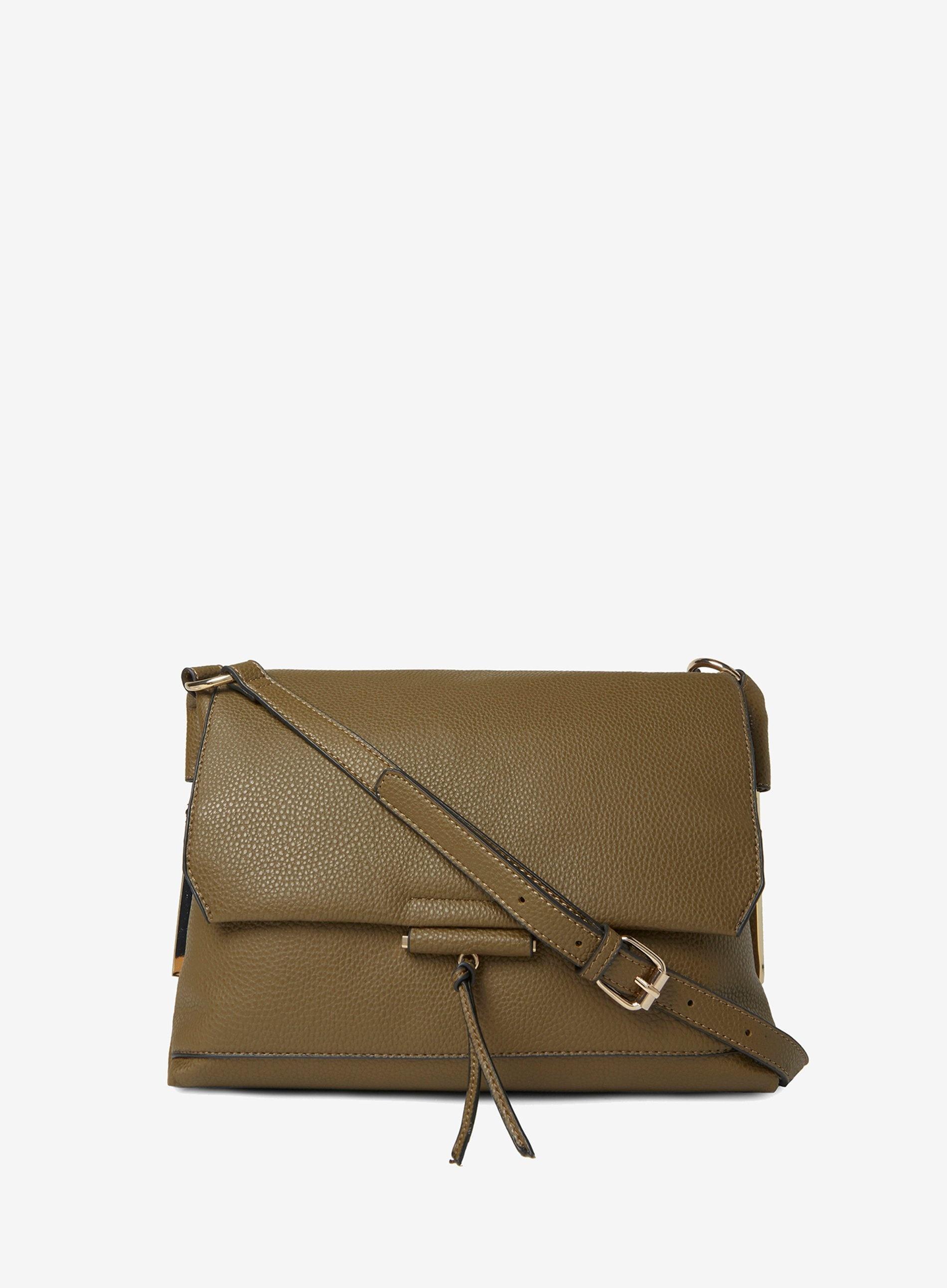 3791376603cb Dorothy Perkins Khaki Metal Side Cross Body Bag in Natural - Lyst