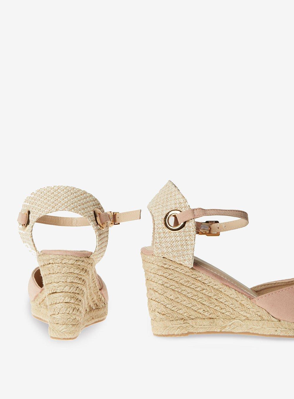 487107afc75 Dorothy Perkins Pink Rose 'raven' Espadrille Wedge Sandals