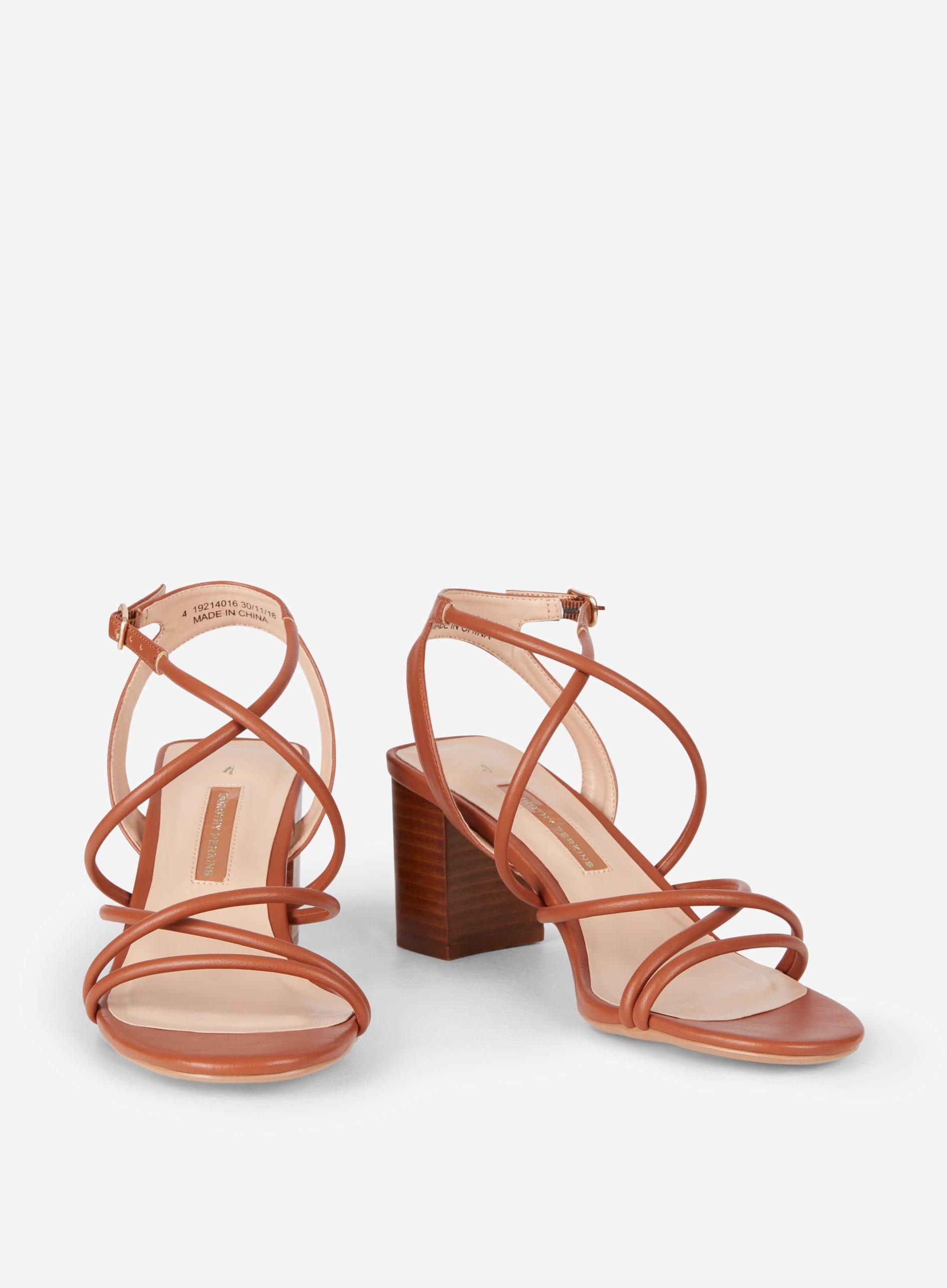 e0a8820397b Dorothy Perkins - Brown Tan Saigon Block Heel Sandals - Lyst. View  fullscreen