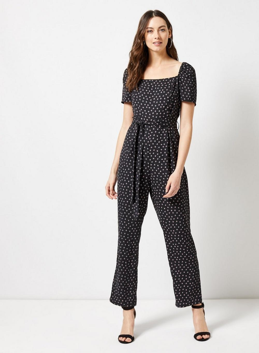 f6ee0f09729 Dorothy Perkins - Black Square Neck Jumpsuit - Lyst. View fullscreen