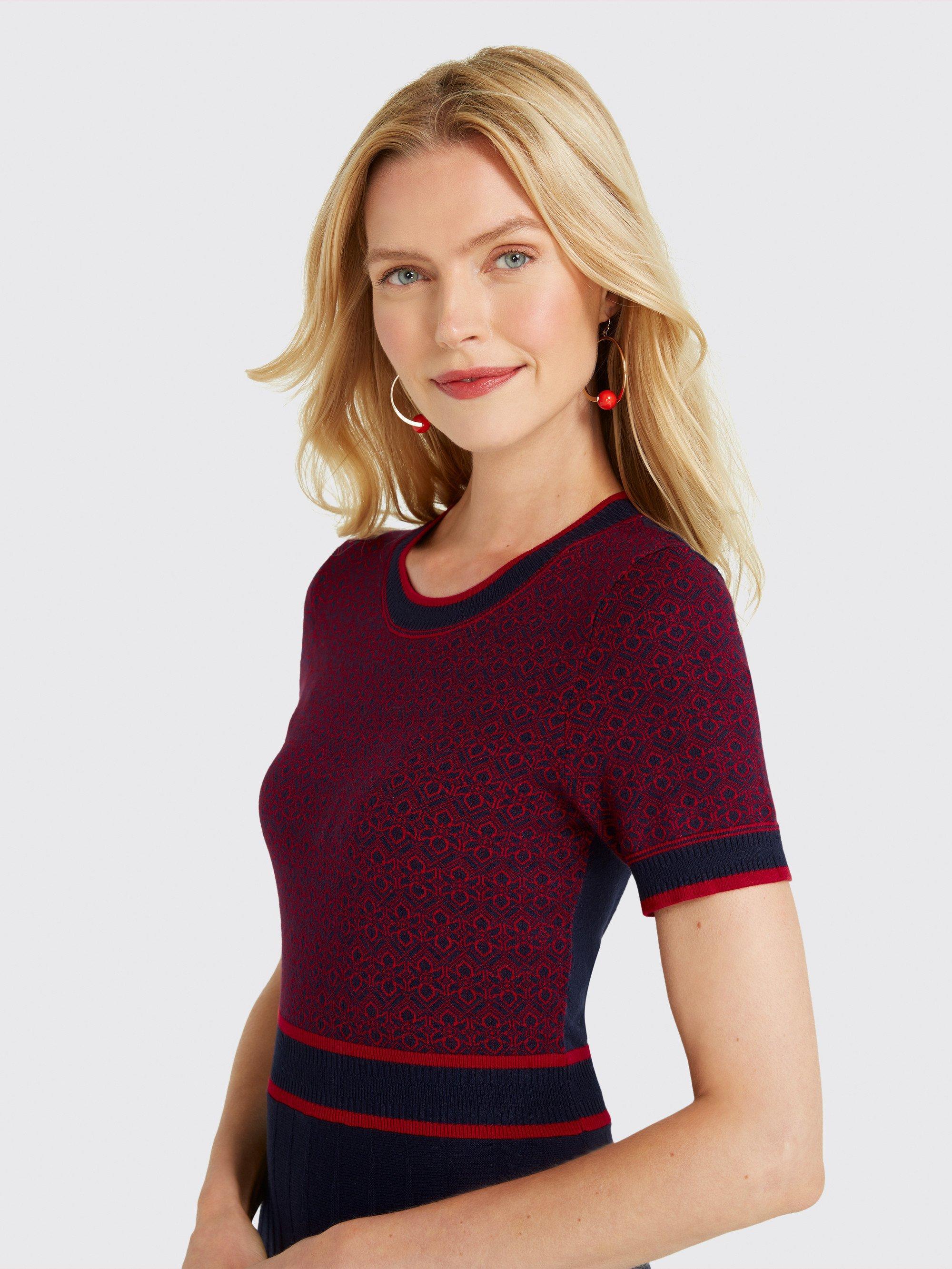 9b517266403 Draper James - Blue Magnolia Fair Isle Knit Dress - Lyst. View fullscreen