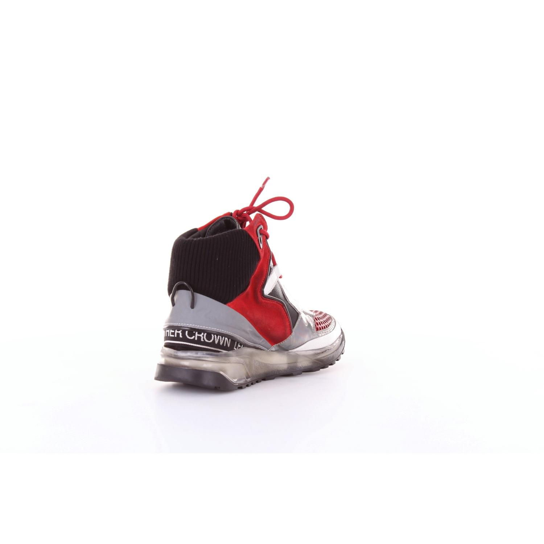 Zapatillas Leather Crown de color Rojo