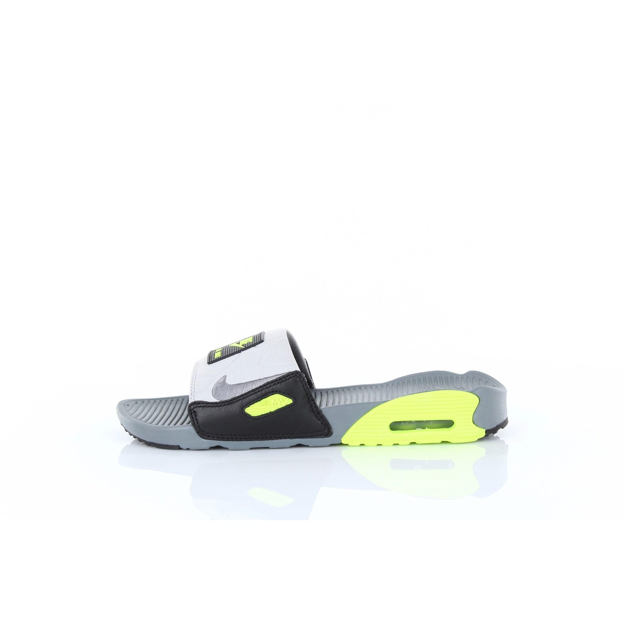 Chaussons air max 90 slide Caoutchouc Nike en coloris Gris - Lyst