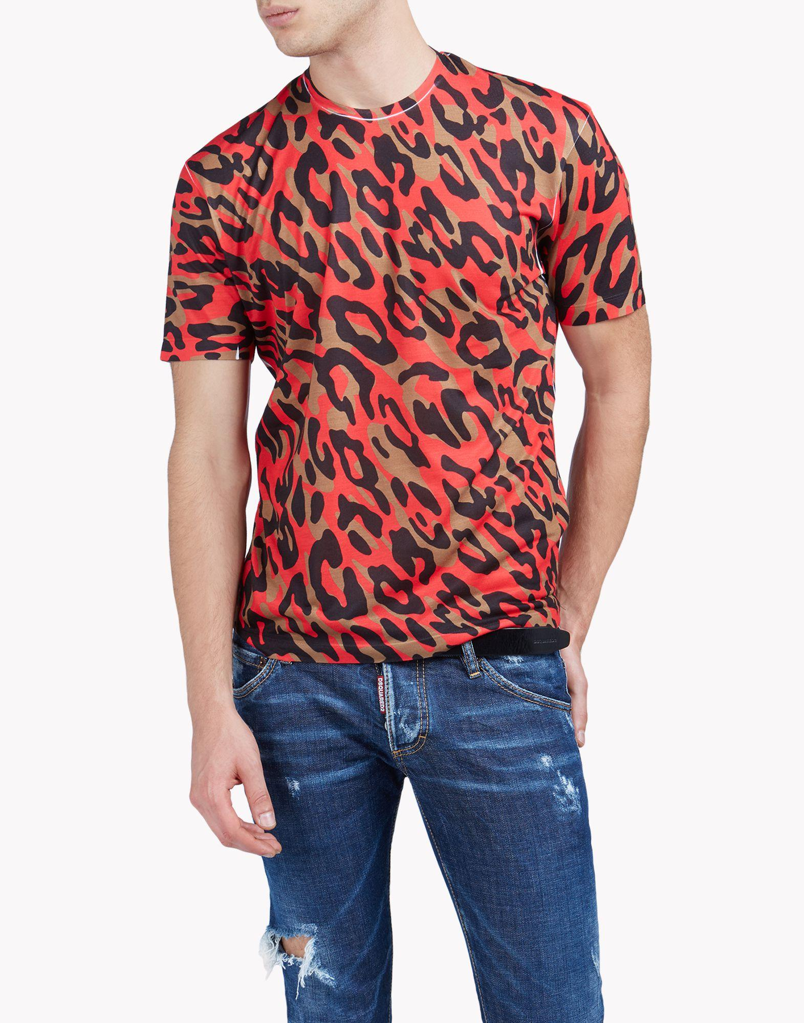 Dsquared camouflage print t shirt for men lyst for Camo print t shirt