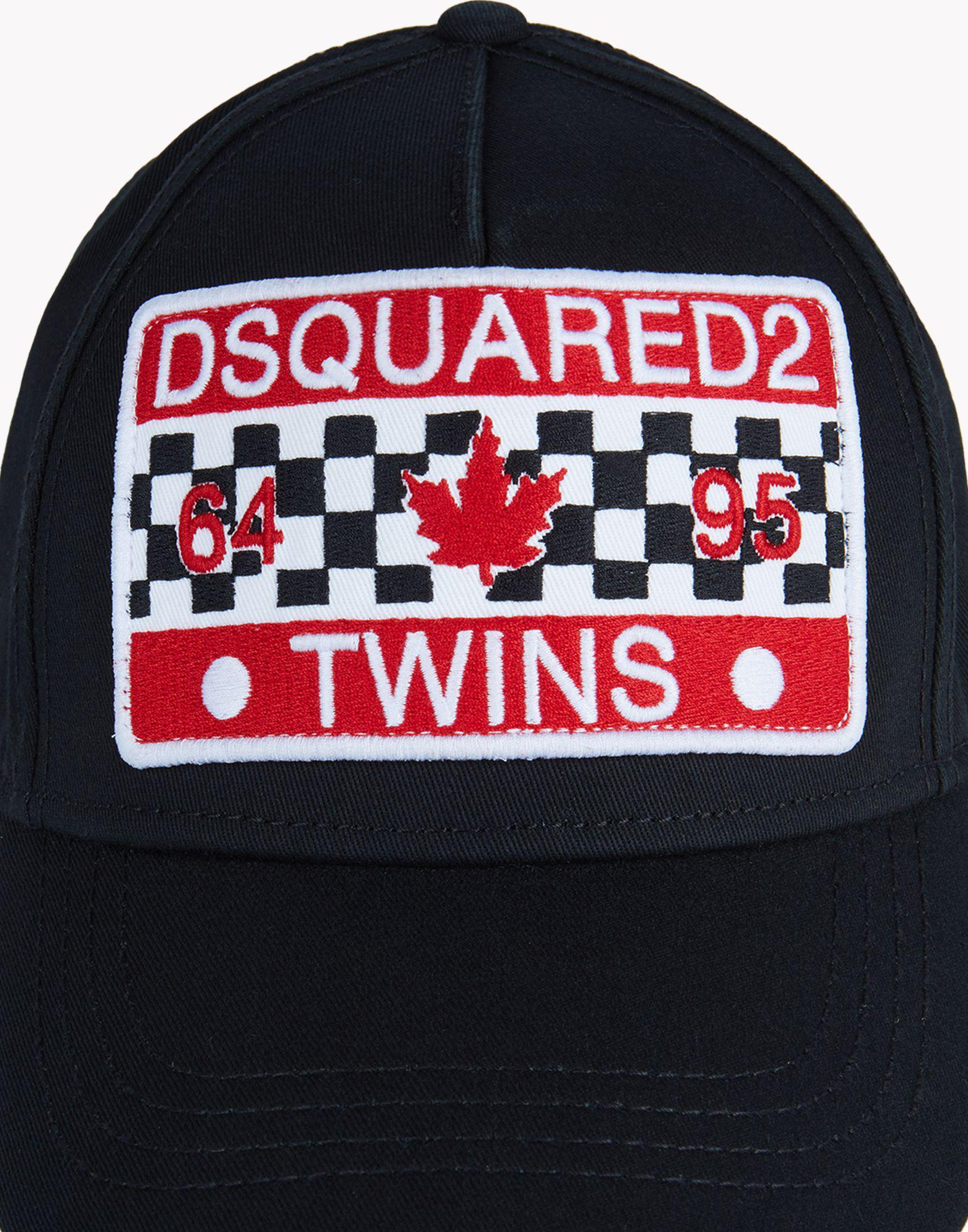 fdc9456b68d67 DSquared² D2 Twins Baseball Cap in Black for Men - Lyst
