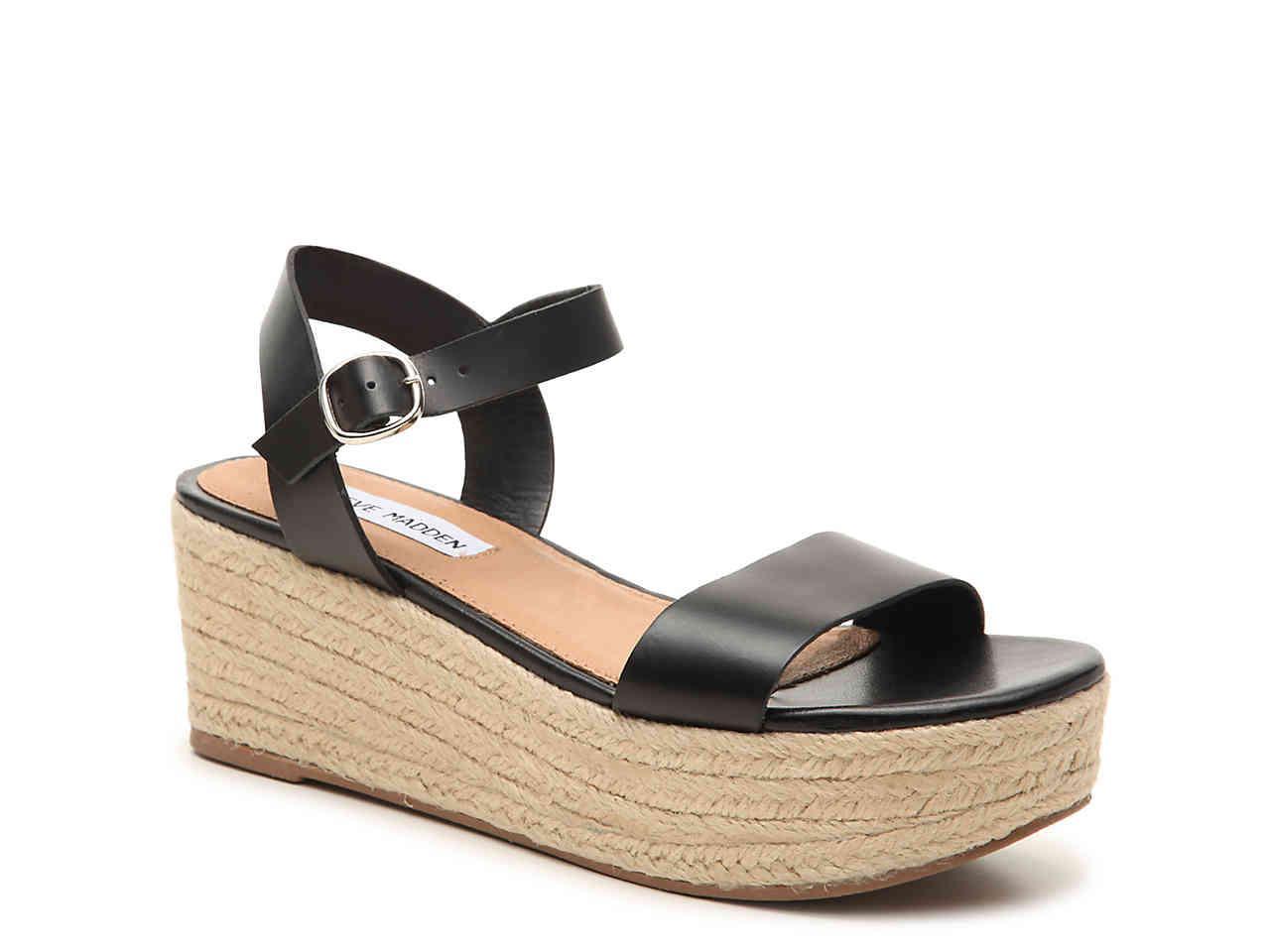 4d325daad3d Women's Black Brandice Espadrille Wedge Sandal