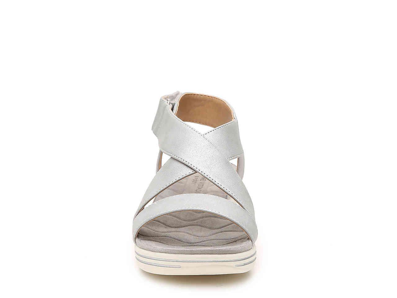 33b01eef01b5 Lyst - Adrienne Vittadini Sport Cory Wedge Sandal in Metallic