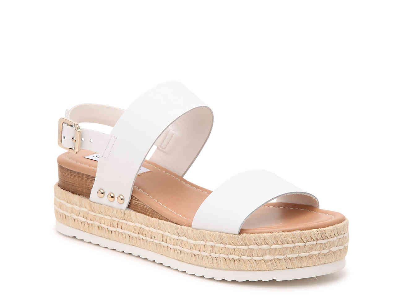 d319a19fdb Steve Madden Catia Espadrille Wedge Sandal in White - Lyst