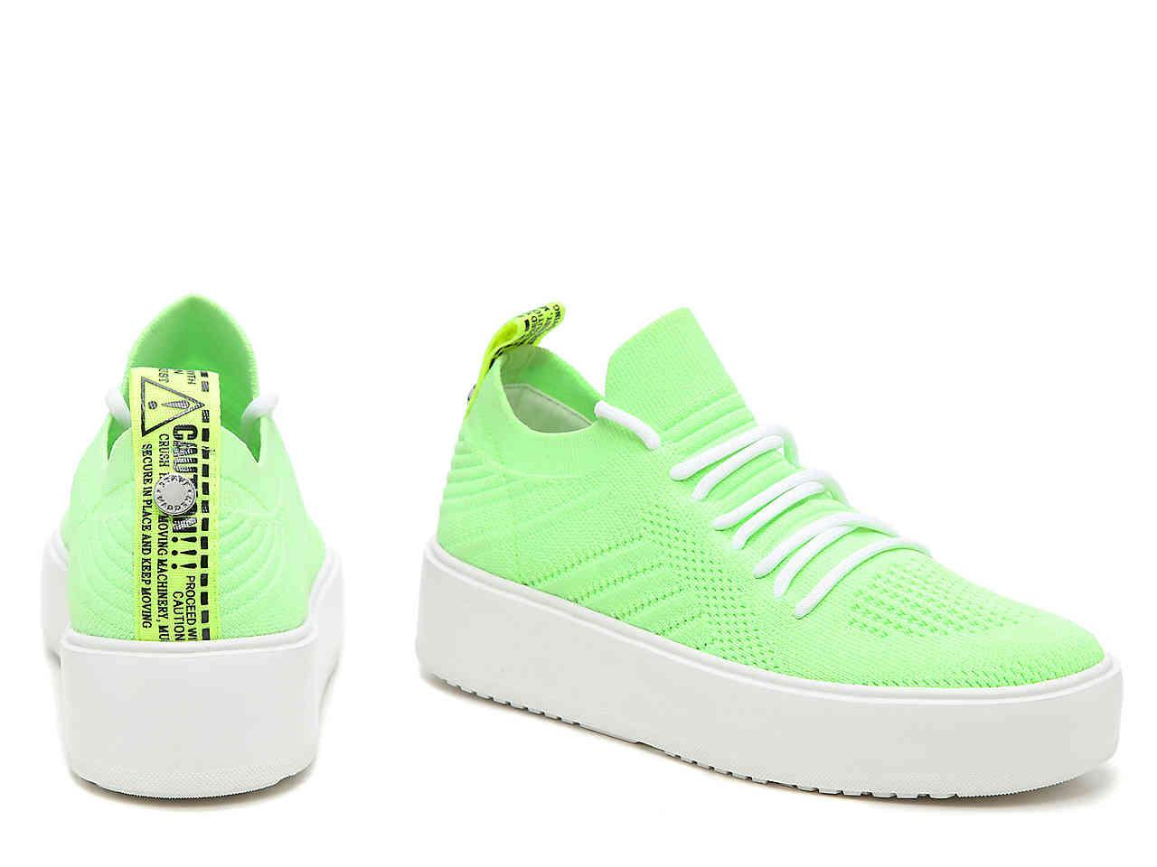 Brixie Platform Sneaker in Lime Green