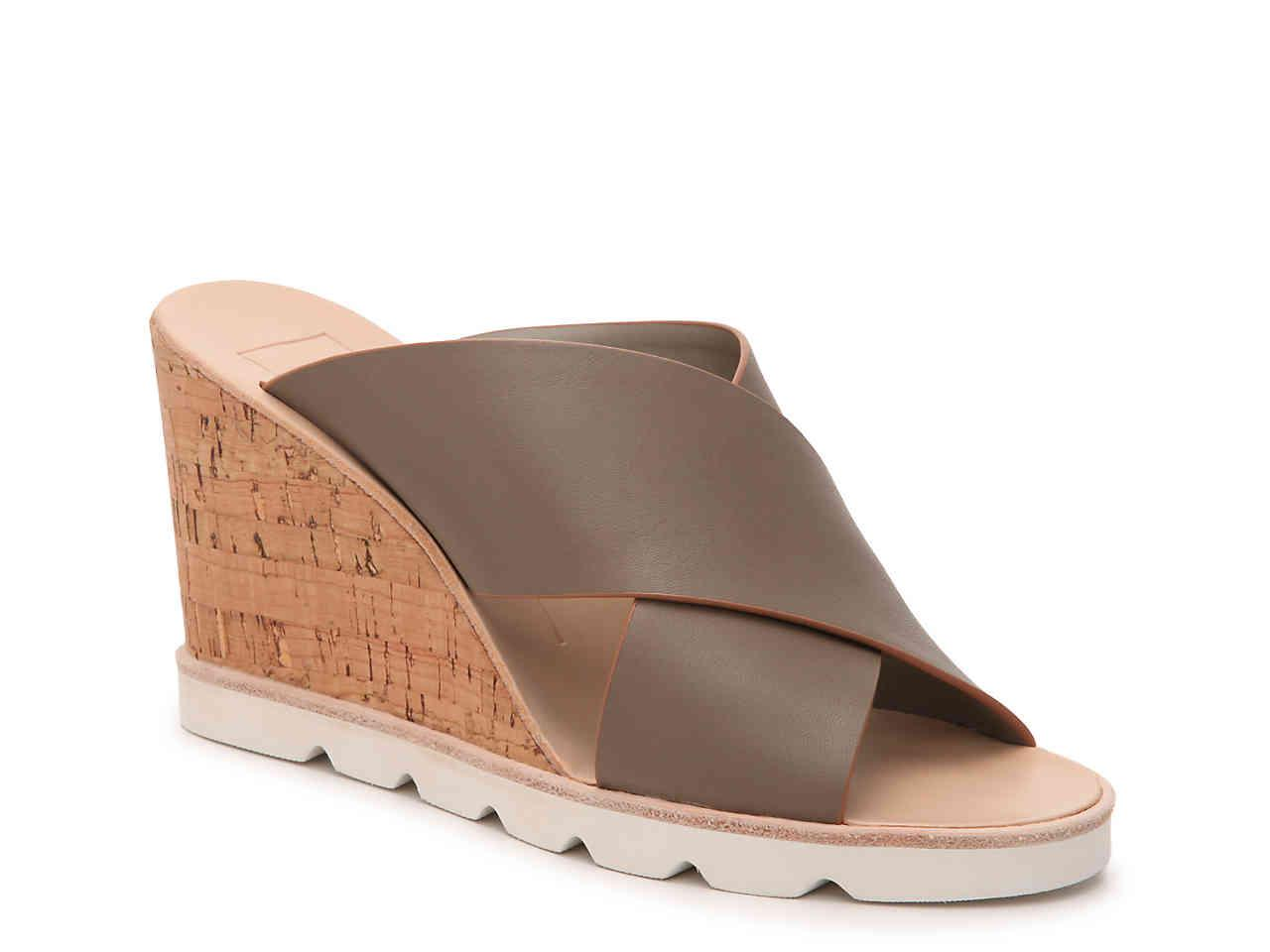 Dolce Vita Lida Wedge Sandal in Khaki
