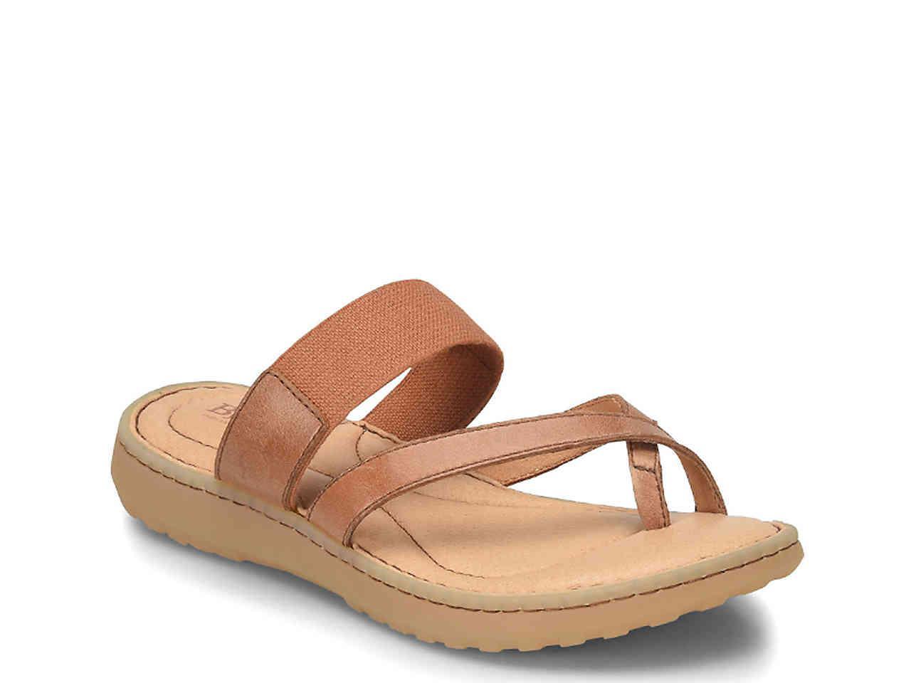 b0f9084efa61 Lyst - Born Arvid Flat Sandal in Brown