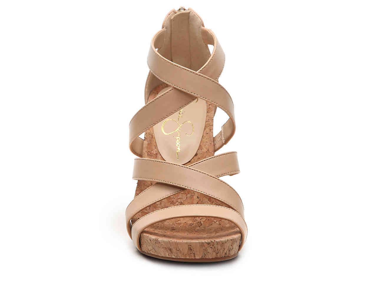 635888441ce9d Jessica Simpson Natural Bassena Wedge Sandal