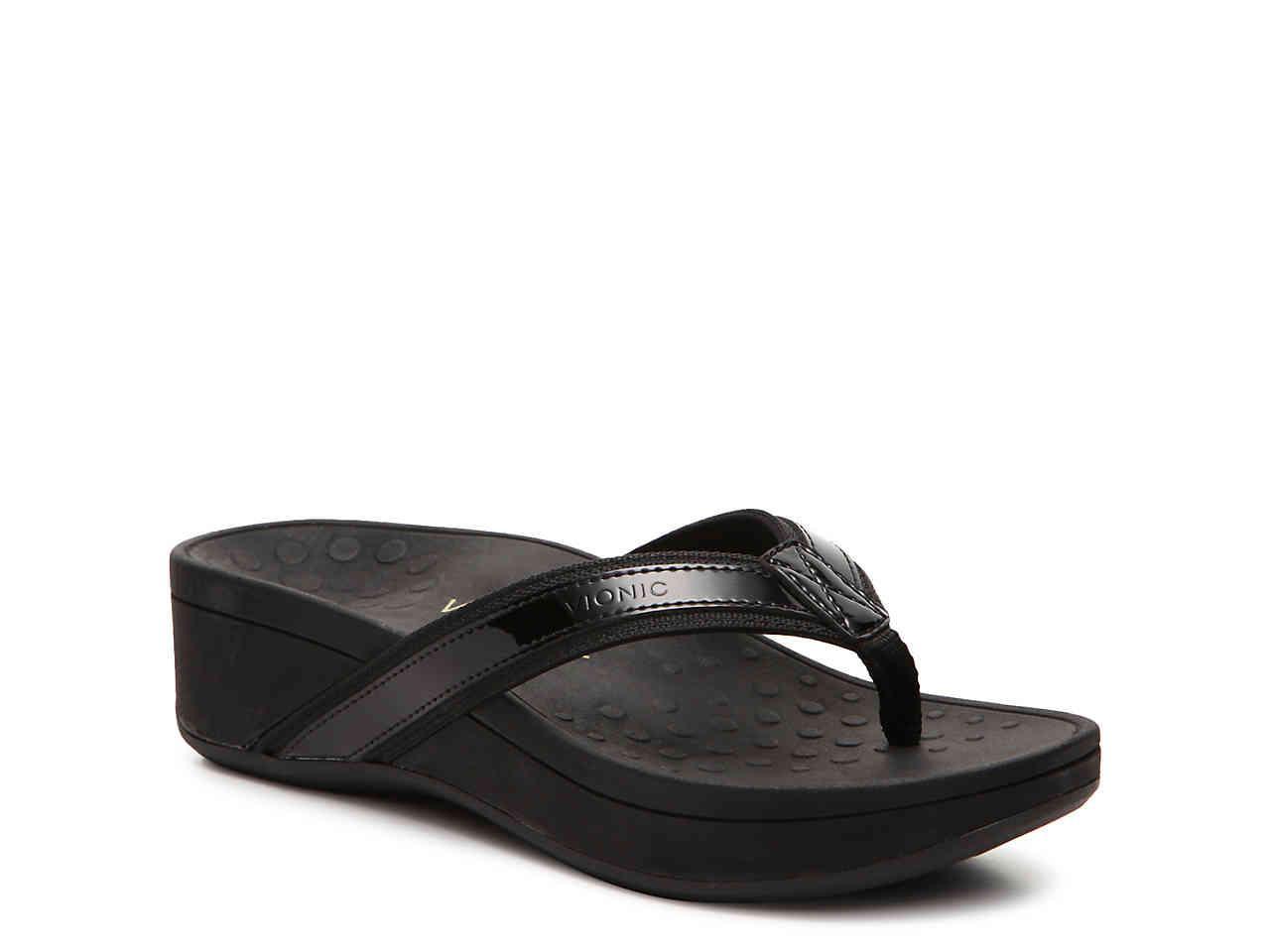 37430971b59f3 Lyst - Vionic High Tide Wedge Sandal in Black