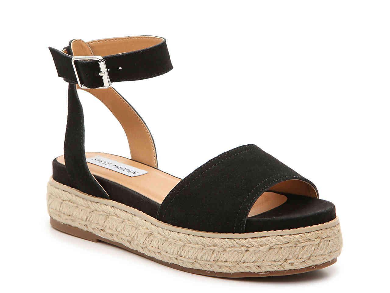 845b60d6085 Women's Black Gabi Espadrille Platform Sandal